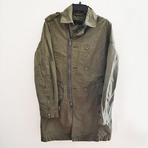 Marc Anthony Mens Zip Up Jacket Olive Green Size S